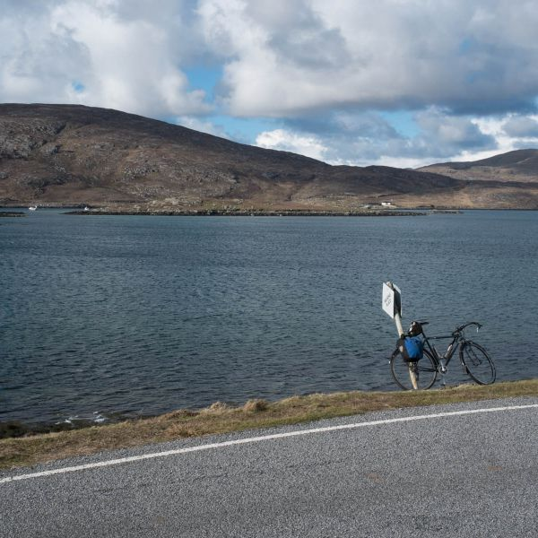 cycling Isle of Barra. Hire bicycle