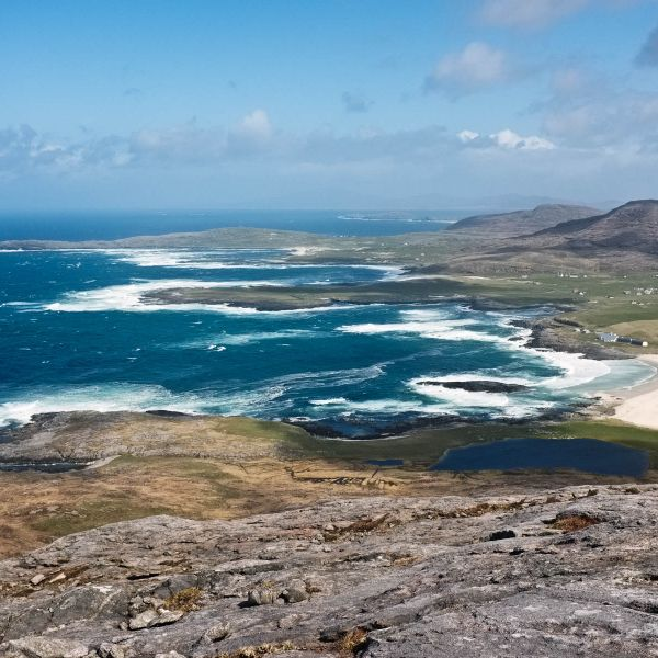 Isle of Barra coast by bike hire